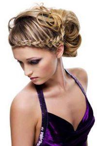 plaited prom hair upstyle, hair salon, sutton coldfield