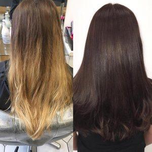 hair colour transformation, syer hair salon, sutton coldfield