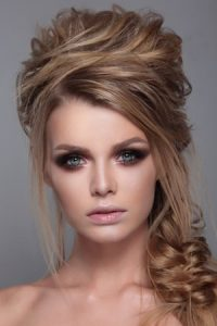 half upstyle for proms, prom hair and make-up, syer hair and beauty salon, Sutton Coldfield