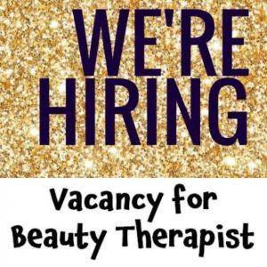 Beauty Therapist, Recruitment, Vacancies, Syer Hair & Beauty Salon, Sutton Coldfield