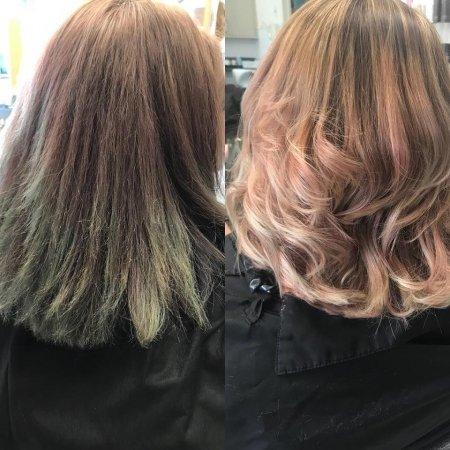 hair colour correction, Syer hair salon, Sutton Coldfield